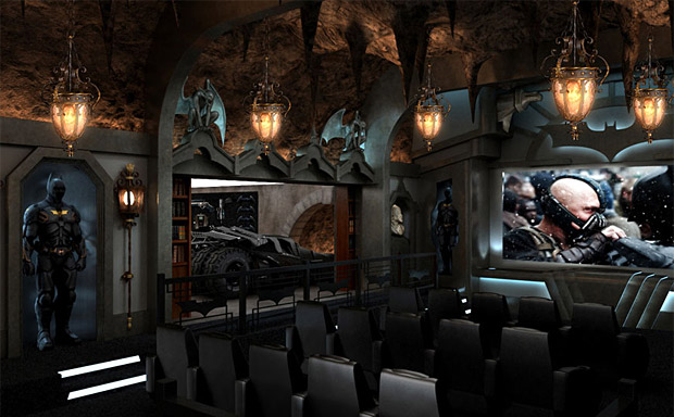 The Dark Knight Themed Home Theater