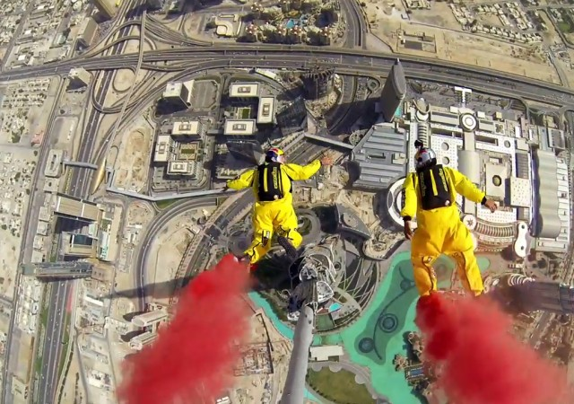 These Guys BASE Jump Burj Khalifa for Fun