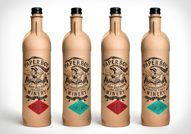 PaperBoy Wine Comes in a Cardboard Bottle