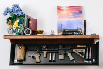 These Shelves Will Conceal Your Guns In Plain Sight