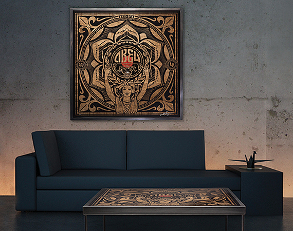 Shepard-Fairey-x-Prints-On-Wood-Coffee-Table-Art-Piece-00