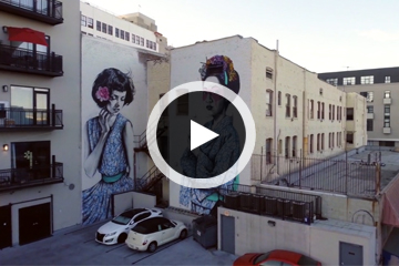 Check Out Los Angeles Architecture and Street Art from Above