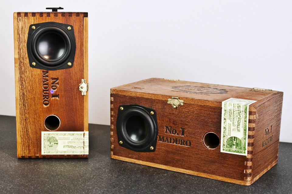 Speakers Made from Old Cigar Boxes