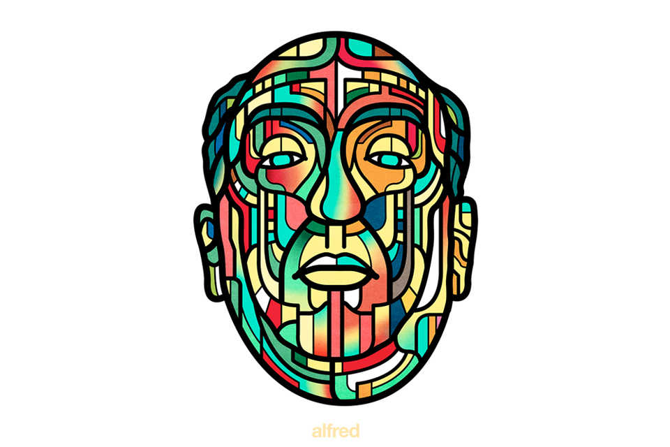 Stained Glass Portrait Illustrations by Italian Twin Duo Van Orton