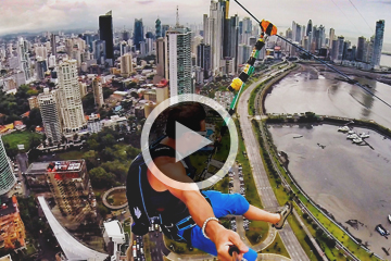 There's a Twist to the World's Largest Urban Zipline