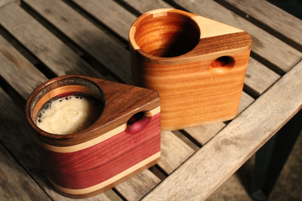 These Wood Mugs are Made for Beer