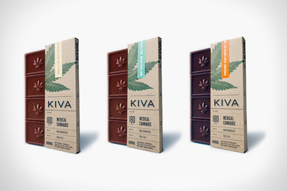 KIVA Bars are Infused with Cannabis